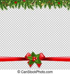透明, 背景, クリスマス, 花輪