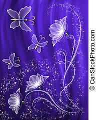 透明, 花, そして, 蝶