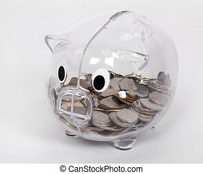 透明, 豬一般的銀行