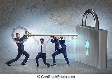 透過, 配合, 商人, 成功, 達到