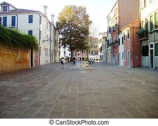 通り, イタリア, 静寂, ベニス