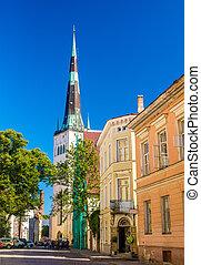 通り, 中に, ∥, 歴史的, 中心, の, tallinn, -, estonia