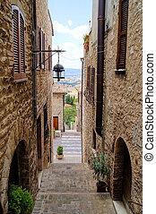 通り, 中世, イタリア語