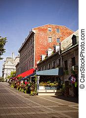 通り, 古い, 現場, モントリオール