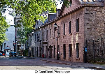 通り, 古い, 静寂, モントリオール