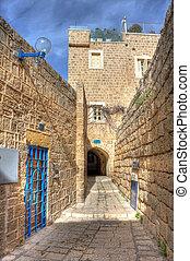 通り, 古い, israel., jaffa