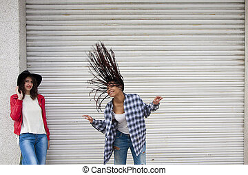 通り, 女の子, ダンス