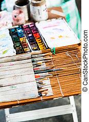 通り, 道具, 芸術家