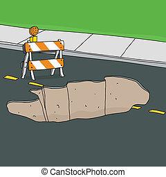 通り, 障壁, sinkhole