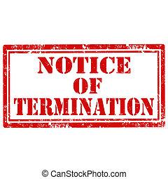 通知, termination-stamp