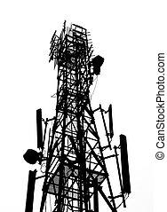通訊塔, 黑色半面畫像, 天線