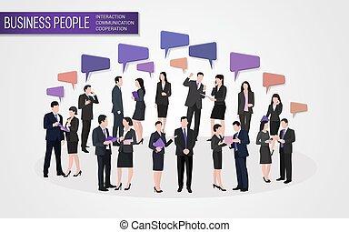 通訊, 相互作用, 事務, 合作, 人們