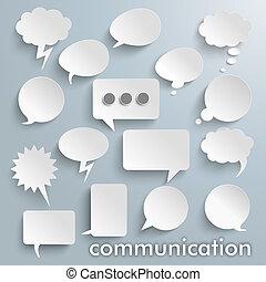 通訊, 紙, 演說, 氣泡, 集合
