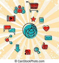 通訊, 集合, 互聯网絡圖標
