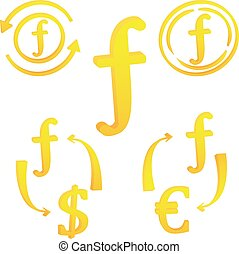 通貨, アイコン, holand, シンボル, netherlands, ギルダー