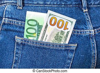 通貨, アメリカ人, ユーロ