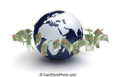 通貨, アルゼンチン, グローバルなビジネス, ペソ