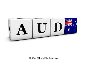 通貨, オーストラリア人, オーストラリア, ドル, aud