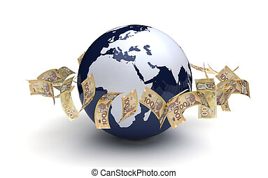 通貨, グローバルなビジネス, カナダ