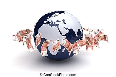 通貨, グローバルなビジネス, ルーブル