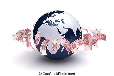 通貨, グローバルなビジネス, yuan