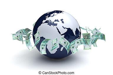 通貨, 世界的である, コロンビア, ビジネス, ペソ