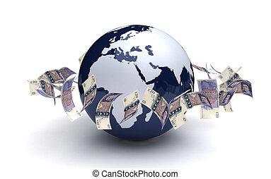 通貨, 世界的である, ポンド, ビジネス