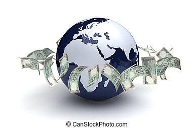通貨, 世界的である, indian, ビジネス