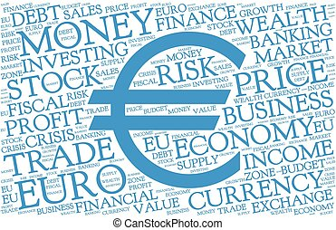 通貨 記号, 単語, 雲, ユーロ