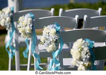 通路, 装飾, 花, 結婚式
