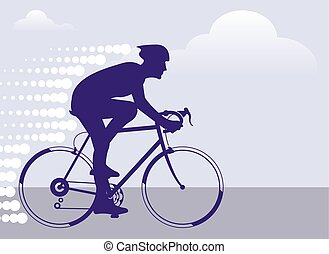 速い, bicyclist