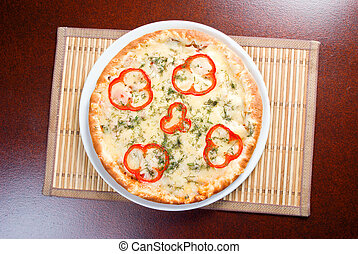速い, pizza., 形態, 自然, 食物, foods.