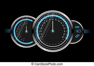 速度計, ベクトル, デザイン