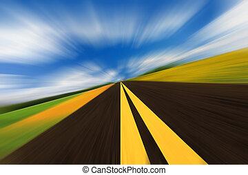 速度, 路