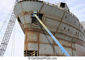 造船所, 溶接工