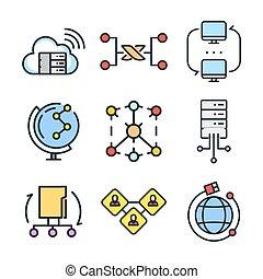 連接, 圖象, 集合, 顏色