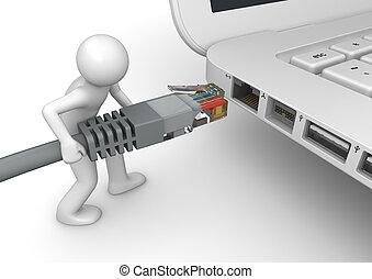 連接, 网絡