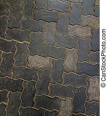 連結, 床, セメント, 舗装, 手ざわり, 背景, 岩, patten