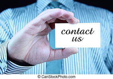 連絡,  -, ビジネス, カード, 私達