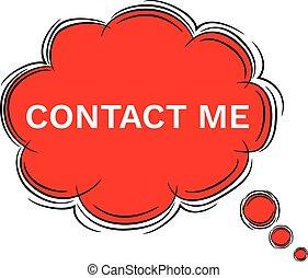 連絡, ベクトル, いたずら書き, 私, スピーチ, イラスト, 泡