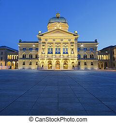 連邦である, 宮殿, の, スイス