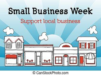 週, ビジネス, アメリカ, 通り, 小さい, 本