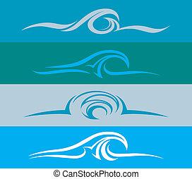 進化, デザイン, 波