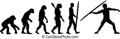 進化, 投げ槍, 投球