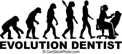 進化, 歯科医, 女性