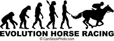 進化, 競争, 馬
