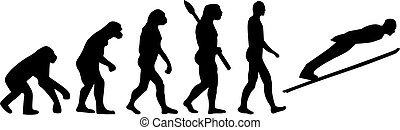 進化, 跳躍, スキー