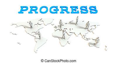 進歩, グローバルなビジネス