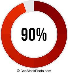 進歩, ローディング, バー, 90%