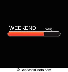 進歩, ローディング, 週末, bar.